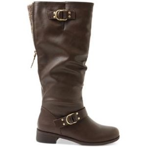XOXO Womens Minkler Round Toe Fashion Boots